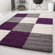 Ay life 1501 lila 80x150cm - kockás shaggy szőnyeg