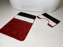 Fürdőszobai szőnyeg 2 részes - piros görög