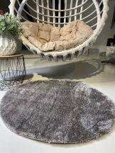 Prémium szürke kör shaggy szőnyeg 100cm