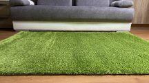 Prémium zöld shaggy szőnyeg 60x110cm