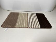Fürdőszobai szőnyeg 1 részes - bézs csíkos
