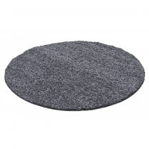 Ay life 1500 sötétszürke 120cm egyszínű kör shaggy szőnyeg