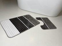 Fürdőszobai szőnyeg 2 részes - szürke csíkos