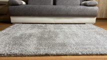 Prémium szürke shaggy szőnyeg 160x220cm