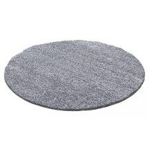 Ay life 1500 világos szürke 120cm egyszínű kör shaggy szőnyeg