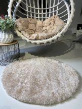 Prémium bézs kör shaggy szőnyeg 80cm