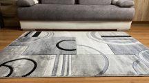 Modern szőnyeg, Platin szürke 3702 60x100cm