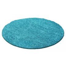 Ay life 1500 türkiz 80cm egyszínű kör shaggy szőnyeg