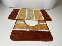 Fürdőszobai szőnyeg 2 részes - terra kockás