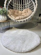 Prémium fehér kör shaggy szőnyeg 100cm