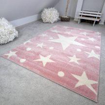 Gyerekszőnyeg akció, EPERKE 133x190cm stars rózsaszín kis csillagos szőnyeg