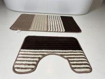 Fürdőszobai szőnyeg 2 részes - bézs csíkos