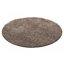 Ay life 1500 mokka 120cm egyszínű kör shaggy szőnyeg