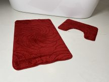 Fürdőszobai szőnyeg 2 részes - piros nagyvirág