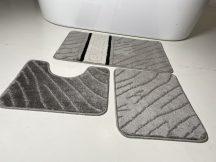 Fürdőszobai szőnyeg 3 részes -szürke görög