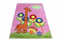 Dy Kids 02 125X160Cm Rózsaszín Zsiráfos  Gyerekszőnyeg