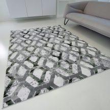 Modern szőnyeg akció, ZARIF 9960 szürke-zöld 160x220cm