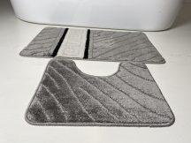 Fürdőszobai szőnyeg 2 részes - szürke görög
