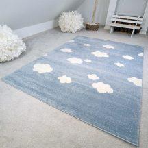 Gyerekszőnyeg akció, EPERKE 133x190cm felhős kék szőnyeg