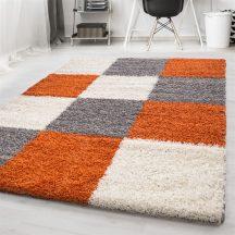 Ay life 1501 terra 160x230cm - kockás shaggy szőnyeg