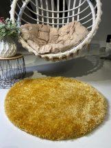 Prémium sárga kör shaggy szőnyeg 80cm