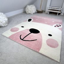 Gyerekszőnyeg akció, EPERKE 120x170cm D066 rózsaszín macis szőnyeg