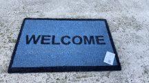 Kd welcome kék 40x60cm lábtörlő