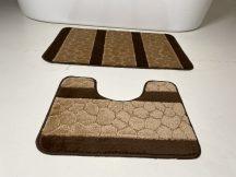 Fürdőszobai szőnyeg 2 részes - barna köves