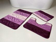 Fürdőszobai szőnyeg 3 részes - lila