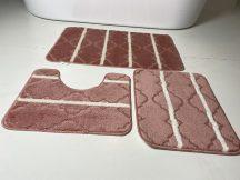 Fürdőszobai szőnyeg 3 részes - hússzínű