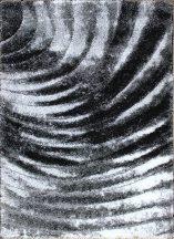 Hosszú Szálú, Ber Seher 3D 2872 60X100Cm Fekete-Szürke Szőnyeg