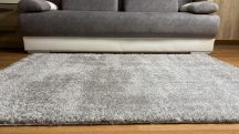 Prémium szürke shaggy szőnyeg 60x110cm
