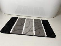 Fürdőszobai szőnyeg 1 részes - fekete levél