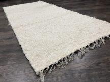 Rongyszőnyeg 70x150cm krém színű