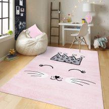 Gyerekszőnyeg akció, EPERKE 133x190cm E220 rózsaszín cuki cicás szőnyeg