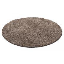 Ay life 1500 mokka 80cm egyszínű kör shaggy szőnyeg