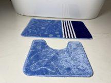 Fürdőszobai szőnyeg 2 részes - kék csillag
