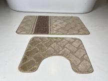 Fürdőszobai szőnyeg 2 részes - barna görög