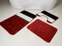 Fürdőszobai szőnyeg 3 részes - piros görög