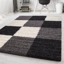 Ay life 1501 fekete 120x170cm - kockás shaggy szőnyeg