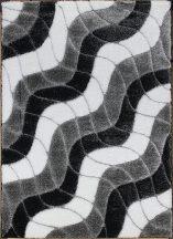 Hosszú Szálú Szőnyeg, Ber Seher 3D 2616 60X100Cm Fekete-Szürke Szőnyeg