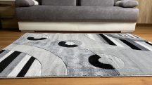 Modern szőnyeg, Platin szürke 3775 200x280cm