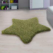 Ay star zöld 100x100cm csillag formás shaggy szőnyeg