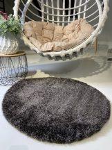 Prémium antracit kör shaggy szőnyeg 80cm