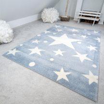 Gyerekszőnyeg akció, EPERKE 133x190cm stars kék kis csillagos szőnyeg
