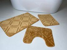 Fürdőszobai szőnyeg 3 részes - mustár