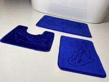 Fürdőszobai szőnyeg 3 részes -kék delfines