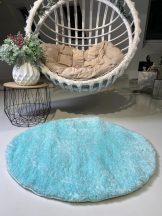 Prémium kék kör shaggy szőnyeg 100cm