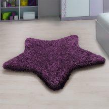 Ay star lila 100x100cm csillag formás shaggy szőnyeg