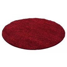 Ay life 1500 piros 80cm egyszínű kör shaggy szőnyeg